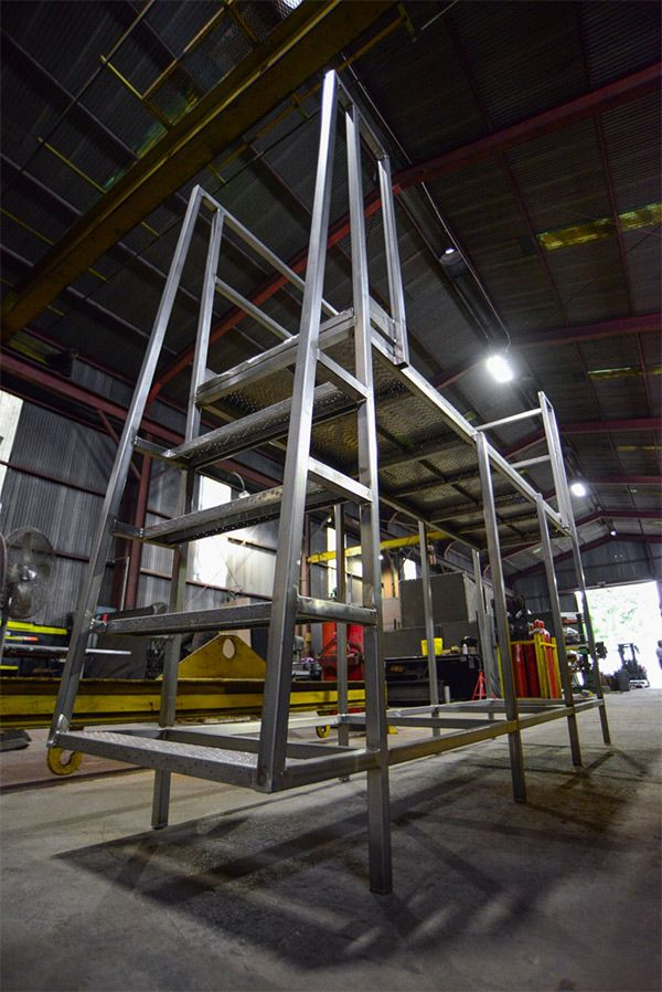 custom stainless steel mezzanine platform catwalk dallas